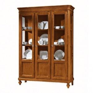 3-dveřová vitrína, knihovna