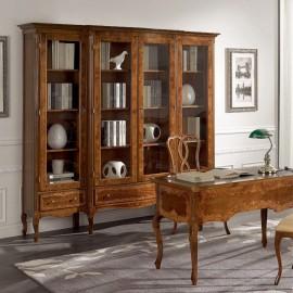 Knihovna s intarzií