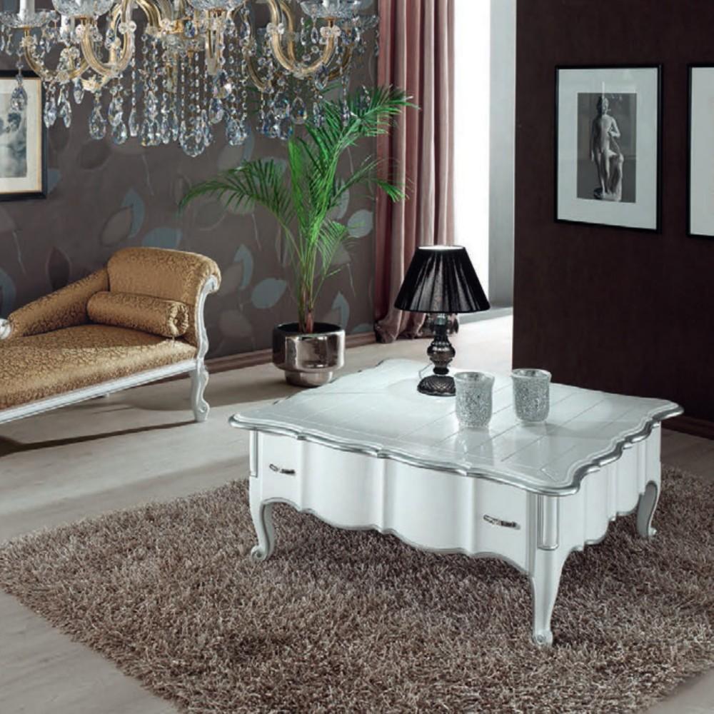 Bílý konferenční stůl Art Deco