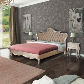 Stříbrná postel Art Deco