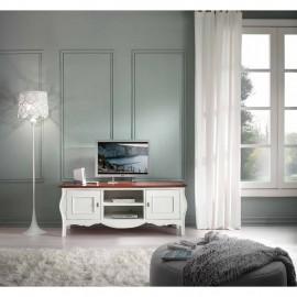 Bílý vintage TV stolek