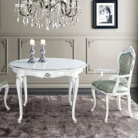 Bílý jídelní stůl Art Deco