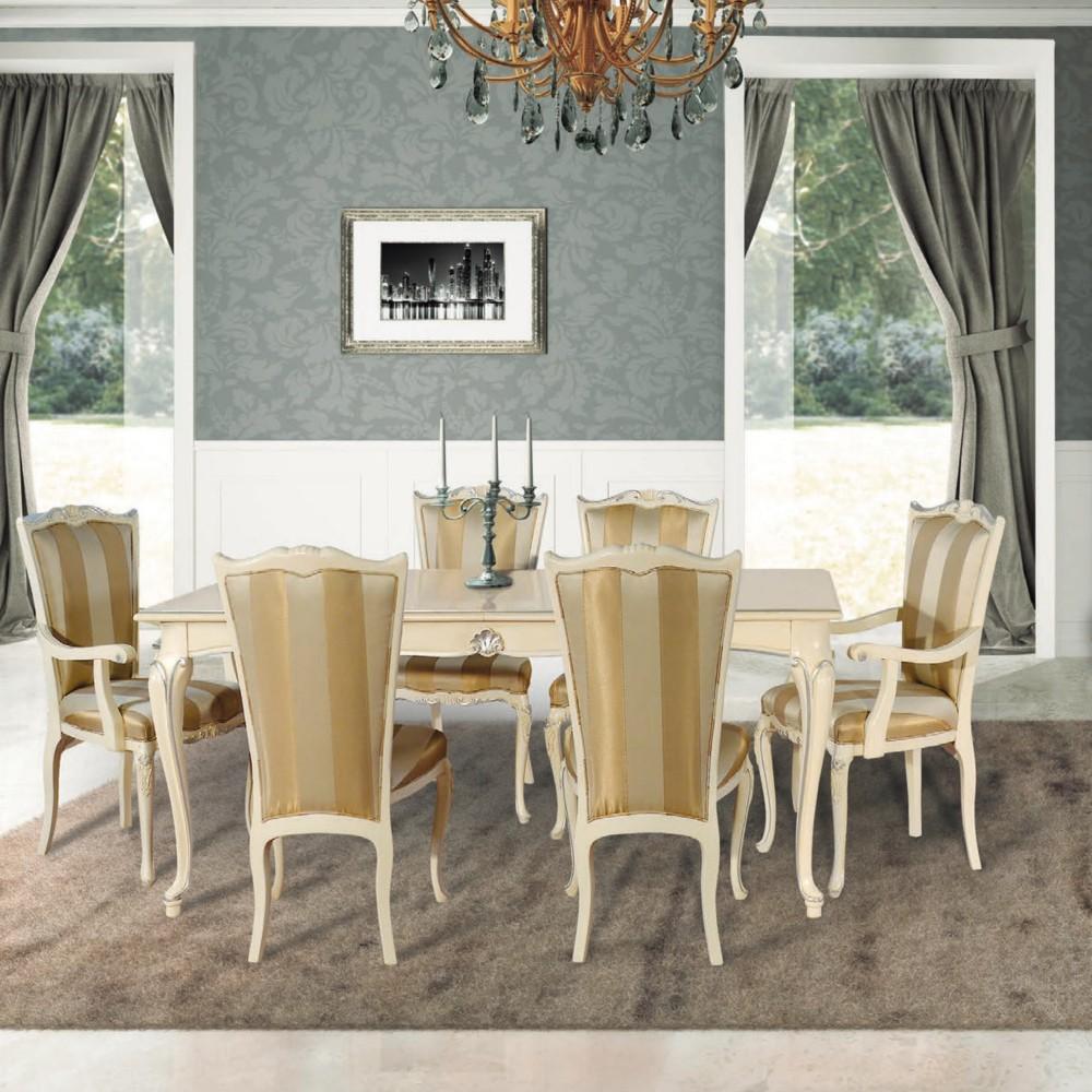 Smetanový jídelní stůl Art Deco