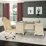 Smetanový psací stůl Art Deco