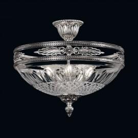 Kovový lustr s broušeným sklem