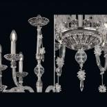 Stříbrný křišťálový lustr
