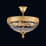 Zlatý lustr s broušeným sklem